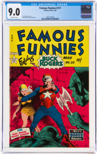 Famous Funnies #211 (Eastern Color, 1954) CGC VF/NM 9.0 Off-white pages
