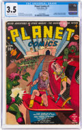 Golden Age (1938-1955):Science Fiction, Planet Comics #1 (Fiction House, 1940) CGC VG- 3.5 Cream to off-white pages....