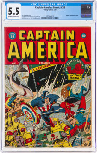 Captain America Comics #26 (Timely, 1943) CGC FN- 5.5 Off-white to white pages