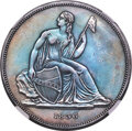 1836 P$1 Name on Base, Judd-60 Original, Pollock-65, R.1 -- Cleaned -- NGC Details. Proof, AU....(PCGS# 11225)