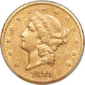 Liberty Double Eagles, 1879-CC $20 -- Cleaned -- PCGS Genuine. AU Details. Variety 1-A,...