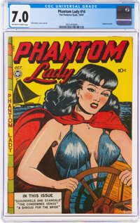 Phantom Lady #14 (Fox Features Syndicate, 1947) CGC FN/VF 7.0 Off-white to white pages