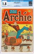 Golden Age (1938-1955):Humor, Archie Comics #1 (Archie, 1942) CGC GD- 1.8 Off-white pages....