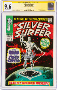 The Silver Surfer #1 Signature Series - Stan Lee (Marvel, 1968) CGC NM+ 9.6 Off-white to white pages
