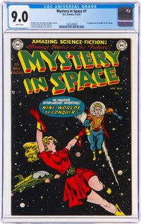 Mystery in Space #1 (DC, 1951) CGC VF/NM 9.0 White pages