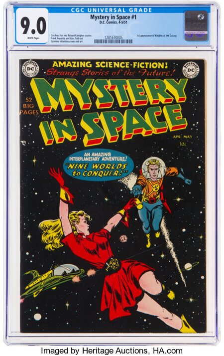 Mystery in Space #1 (DC, 1951) CGC VF/NM 9.0 White pages....