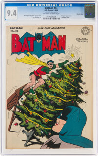 Batman #33 Double Cover (DC, 1946) CGC NM 9.4 Off-white to white pages