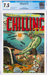 Chilling Tales #13 (Youthful Magazines, 1952) CGC VF- 7.5 Off-white pages
