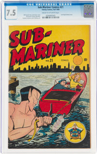 Sub-Mariner Comics #21 (Timely, 1946) CGC VF- 7.5 Cream to off-white pages