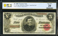 Fr. 361 $5 1890 Treasury Note PCGS Banknote Very Fine 20