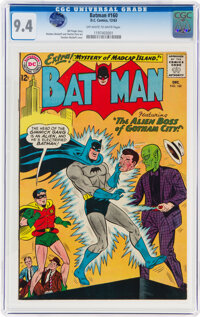 Batman #160 (DC, 1963) CGC NM 9.4 Off-white to white pages