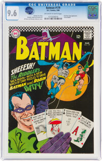 Batman #179 (DC, 1966) CGC NM+ 9.6 Off-white to white pages
