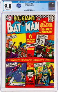 Batman #187 (DC, 1966) CGC NM/MT 9.8 White pages