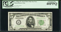 Fr. 1956-J* $5 1934 Dark Green Seal Mule Federal Reserve Note. PCGS Extremely Fine 40PPQ