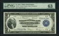 Fr. 715 $1 1918 Federal Reserve Bank Note PMG Choice Uncirculated 63