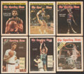 """Basketball Collectibles:Publications, 1970-90 """"The Sporting News"""" Basketball Hall of Famers Lot of 46...."""