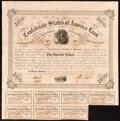 Confederate Notes:Group Lots, Ball 212 Cr. 120 $100 1863 Bond Fine;. Ball 221 Cr. 121 $500 1863 Bond Fine.. ... (Total: 2 items)