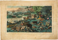 Books:Prints & Leaves, Hand-Colored Engraving Depicting Genesis 2.20. London: Edward Wallis, no date [ca. mid-1800s]...