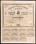 Confederate Notes:Group Lots, Ball 250 Cr. UNL Bond $1,000 1863 Fine, signed by Depositary A. Desmare, several small holes;. Ball 255 Cr. UNL Bond $1,00... (Total: 2 items)