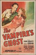 """Movie Posters:Horror, The Vampire's Ghost (Republic, 1945). Folded, Very Fine-. One Sheet (27"""" X 41""""). Horror.. ..."""