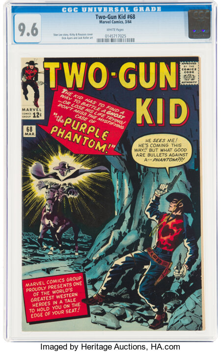Two-Gun Kid #68 (Marvel, 1964) CGC NM+ 9.6 White pages....