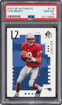 2000 SP Authentic Tom Brady #118 PSA Gem Mint 10 - Serial Numbered 1240/1250