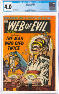 Web of Evil #5 (Quality, 1953) CGC VG 4.0 Off-white pages