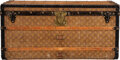 """Luxury Accessories:Travel/Trunks, Louis Vuitton Monogram Coated Canvas Steamer Trunk. Condition: 4. 39.5"""" Width x 19.5"""" Height x 20"""" Depth. ..."""