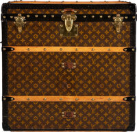 """Louis Vuitton Monogram Coated Canvas Square Trunk Condition: 3 26"""" Width x 25"""" Height x 24.5"""" Dep"""