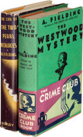 Books:Mystery & Detective Fiction, A.E. Fielding. Two A.E. Fielding Mysteries. New York and London: Various Publishers, [1932]-1936. First Editions.... (Total: 2 Items)