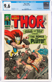 Thor #128 (Marvel, 1966) CGC NM+ 9.6 White pages
