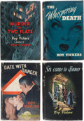 Books:Mystery & Detective Fiction, Roy Vickers. Lot of Four First Editions or First American Editions. London and New York: [various publishers, various dates]... (Total: 4 Items)
