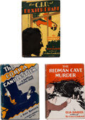 """Books:Mystery & Detective Fiction, Elsa Barker. Group of Three """"Dexter Drake"""" Mysteries. New York: J.H. Sears & Co.; Sears Publishing Co., [1928]-[1930]. First... (Total: 3 Items)"""