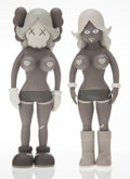 Collectible, KAWS X Todd James. The Twins (Brown), 2006. Painted cast vinyl. 8 x 3 x 1-3/4 inches (20.3 x 7.6 x 4.4 cm) (each). Each ...