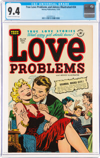True Love Problems and Advice Illustrated #24 (Harvey, 1953) CGC NM 9.4 Cream to off-white pages