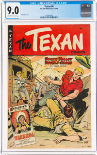 The Texan #6 (St. John, 1949) CGC VF/NM 9.0 Off-white to white pages