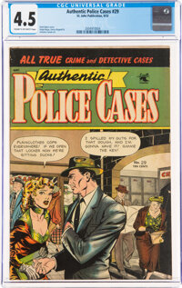 Authentic Police Cases #29 (St. John, 1953) CGC VG+ 4.5 Cream to off-white pages