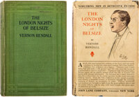 Vernon Rendall. Two copies of The London Nights of Belsize. London: John Lane, The Bodley Head