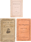 Books:Mystery & Detective Fiction, Wilkie Collins. Group of Three Books. Various places and publishers, 1872-1873.... (Total: 3 Items)