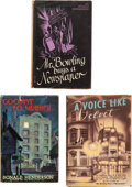 Books:Mystery & Detective Fiction, Donald Henderson. Lot of Three First Editions. London and New York: [various publishers], 1943-1946. One title inscribed by ... (Total: 3 Items)