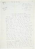 """Books:Manuscripts, Julian Symons. Complete Holograph Manuscript of a short story, """"This Time for Real"""". [No place, No date, circa 1970s?]...."""