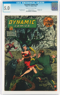 Dynamic Comics #16 (Chesler, 1945) CGC VG/FN 5.0 Cream to off-white pages