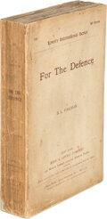 Books:Mystery & Detective Fiction, [Benjamin Leopold] B.L. Farjeon. For the Defense. New York: John W. Lovell Company, 1891. Authorized Edition, Lovell...