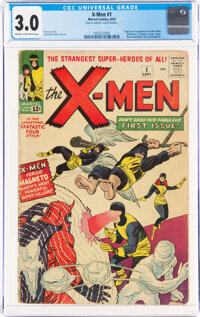 X-Men #1 (Marvel, 1963) CGC GD/VG 3.0 Cream to off-white pages