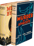 """Books:Mystery & Detective Fiction, Ruth Burr Sanborn. Pair of """"Angeline Tredennick/Tredernick"""" Murder Mysteries. New York and Boston: various publishers, 1932-... (Total: 2 Items)"""