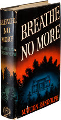 Books:Mystery & Detective Fiction, Marion Randolph. Breathe No More. New York: Holt, [1940]. First edition. ...