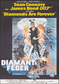 "Diamonds are Forever (United Artists, R-1982). Rolled, Very Fine-. Full Bleed Swedish One Sheet (27.25"" X 39.25&quo..."