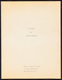 "The Fixer by Bernard Malamud (Farrar, Straus, & Giroux, 1966). Very Fine. Book Manuscript (384 Pages, 8.5"" X 11..."