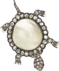 Estate Jewelry:Brooches - Pins, Diamond, Ruby, Freshwater Pearl, Silver-Topped Gold Brooch. ...