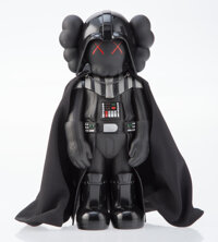 KAWS X Lucasfilm Darth Vader, 2007 Painted cast vinyl 9-3/4 x 4-1/2 x 3-1/2 inches (24.8 x 11.4 x